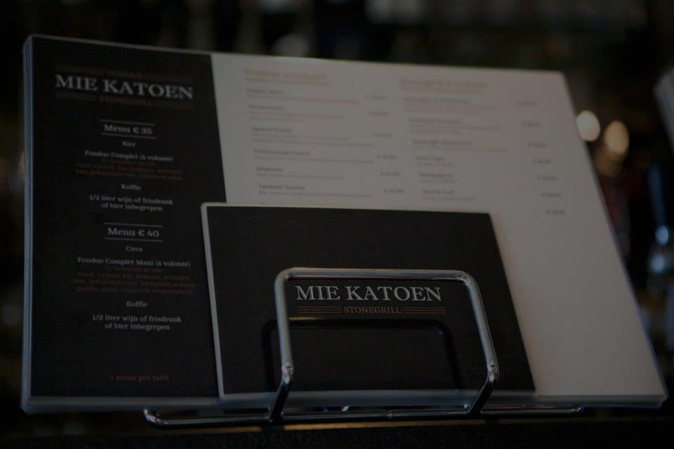 Ontdek het menu